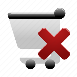 cart, delete, delivery, remove, shopping, shopping cart icon
