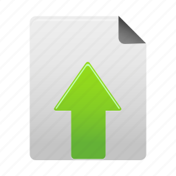 arrow, document, file, page, paper, upload, upload1 icon