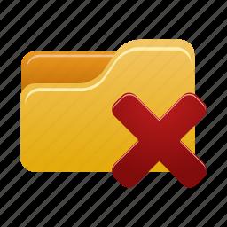 cancel, delete, document, documents, files, folder, remove icon