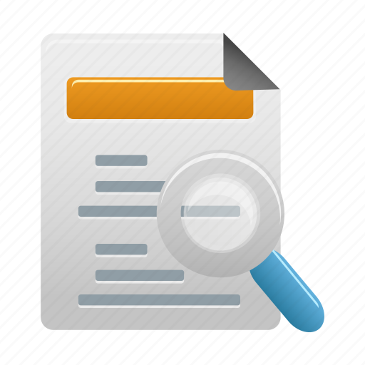 analysis, analytics, find, report, search icon