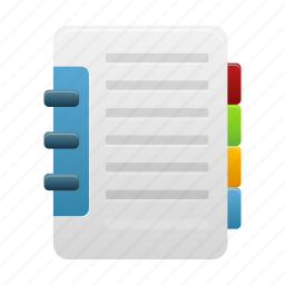 address, book, catalog, directory, notebook icon