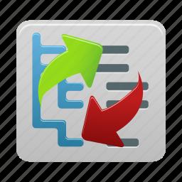 arrows, content, refresh, reorder icon