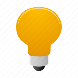 bulb, example, examples, light icon