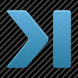 arrow, arrows, direction, forward, hide, next, right icon