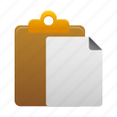 checklist, clipboard, copy, duplicate, files, paste icon