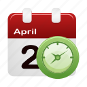 calendar, clock, date, schedule, time icon