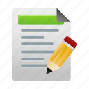 document, edit, file, files, paper, test, tests icon