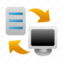 backup, computer, data, pc, restore, server, storage icon