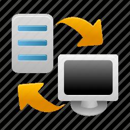 backup, computer, data, pc, restore, server, storage icon