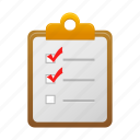 checklist, clipboard, list, report icon