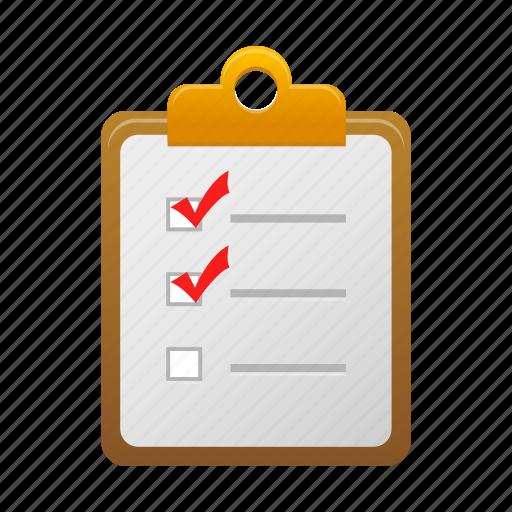checklist, clipboard, list, report icon