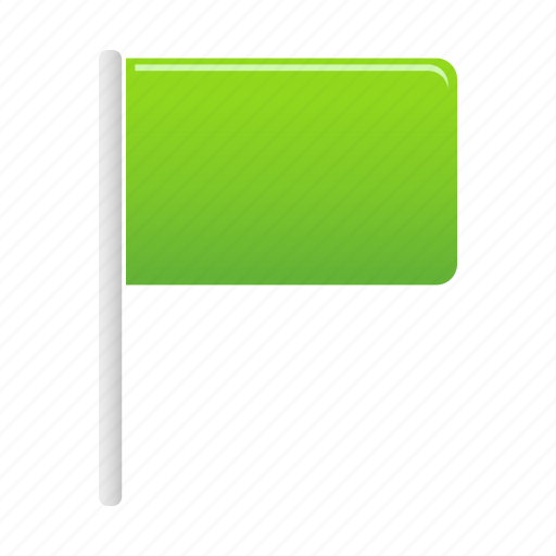 flag, flags, green, marker, pin icon