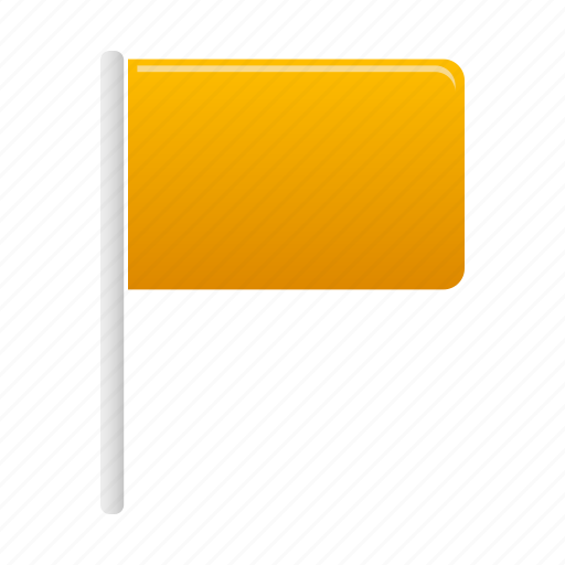 flag, flags, marker, pin, yellow icon