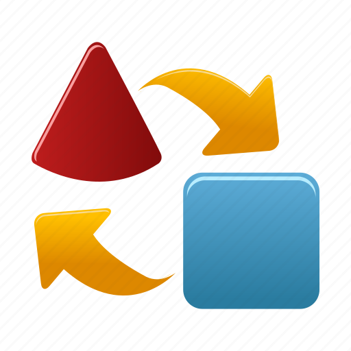 arrows, exchange, export, import, transfer icon