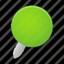 green, pin, map, marker