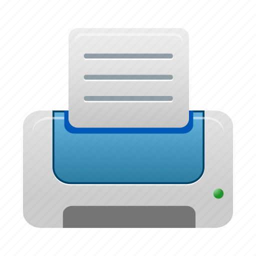 blue, print, printer icon