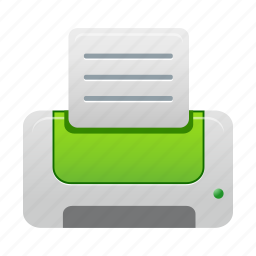 green, print, printer icon