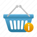 basket, buy, cart, info, shopping icon