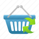 basket, buy, cart, ecommerce, refresh, shop, shopping icon