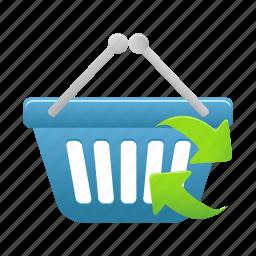 basket, buy, cart, ecommerce, refresh, shop, shopping icon
