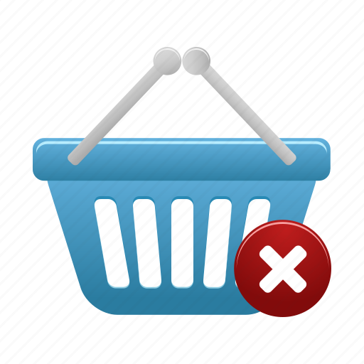 basket, buy, cart, ecommerce, remove, shop, shopping icon