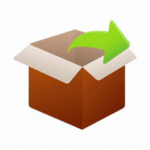 box, delivery, package, parcel, present, product, uncompress icon