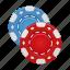 casino, chips, gamble, gambling icon