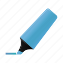 blue, highlightmarker, marker, write icon