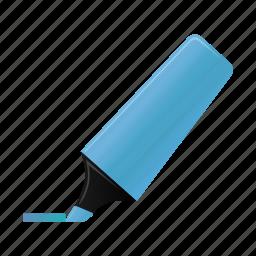 blue, highlightmarker, marker, write icon