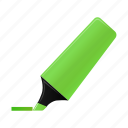 green, highlightmarker, marker, write icon