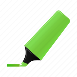 green, highlightmarker, marker, write icon