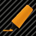 highlightmarker, orange, marker, write