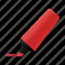 highlightmarker, red, marker, write