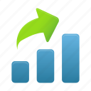 analytics, bar, data, graph, growth, increase, statistics icon