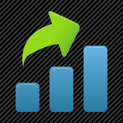 analytics, bar, data, graph, growth, increase, statistics icon