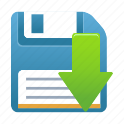 data, disk, download, guardar, save, storage icon