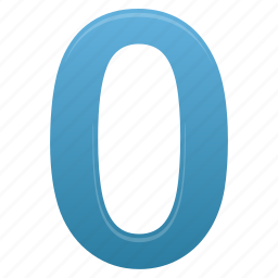 blue, education, learning, math, number, study, zero icon