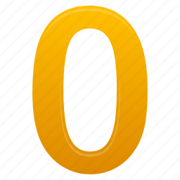 education, math, mathematics, number, numbers, yellow, zero icon