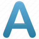a, blue, letter, letters icon