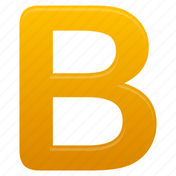 b, letter, letters, yellow icon