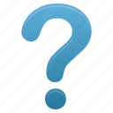 blue, faq, help, mark, question, support icon