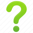 faq, green, help, mark, question, support icon