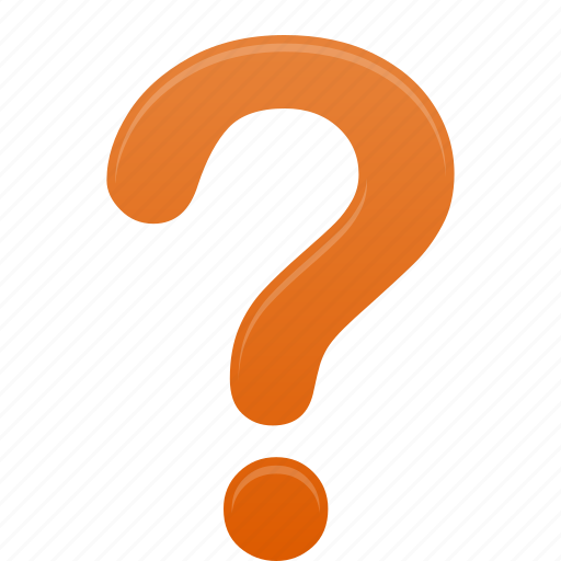 faq, help, mark, orange, question, support icon