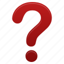 faq, help, mark, question, red, support icon