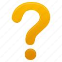 faq, help, mark, question, support, yellow icon