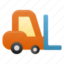 forklift, deliver, delivery, transport, transportation