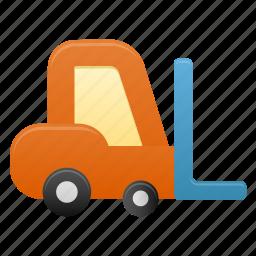 deliver, delivery, forklift, transport, transportation icon