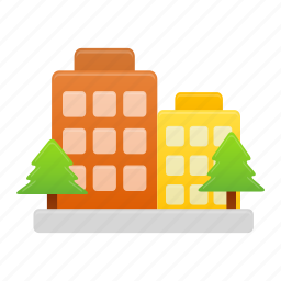 building, buildings, business, companies, office icon