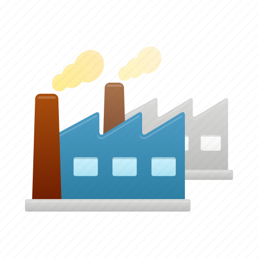 building, construction, factories, factory, industry icon