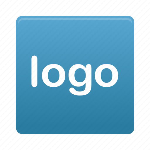blue, logo, sign, square icon